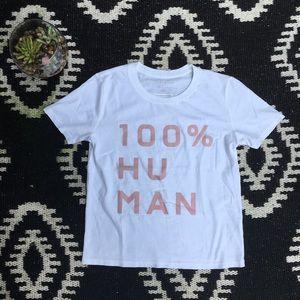 Everlane 100% Human Graphic Top Tee Shirt XXS